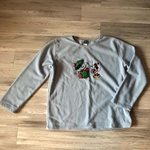 Disney Mickey Minnie Mouse Christmas Fleece Top